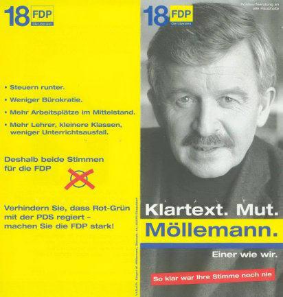 Flugblatt Möllemann - Umschlagseite